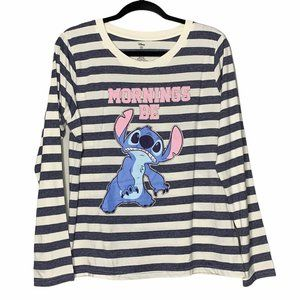 Disney Lilo & Stitch Morning Be Blue White Striped